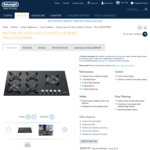 [Refurbished] DeLonghi Gas Cooktop 90cm with 5 Burners $499.99 Delivered ($1,599 RRP for New Unit) @ DeLonghi
