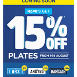 PPQ Personalised Plates QLD 15% off