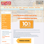 Kings Warehouse 10% off Instore Coupon Online Store Home & Garden