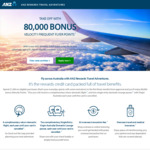 ANZ Rewards Travel Adventures Card - 80,000 Bonus Velocity Points ($225 Annual Fee)