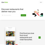 30% off 3 Orders (up to $30 Each) @ UberEATS