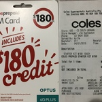 Coles Prepaid - Unlimited Calls & Text / 365 Day Expiry / 36GB Data - $150 (Was $180) @ Coles (in-Store)