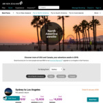 Flights to Los Angeles from Melbourne $909, Sydney to LAX from $919 PP Return @ Air New Zealand