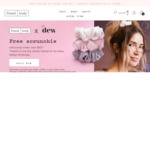 Free Premium Hair Scrunchie with Every Order over $40 from Skincare Brand Frank Body