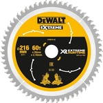 DeWALT 216mm 60T Extreme Runtime Mitre Saw Blade $51.85 (Was  $96) @ Bunnings