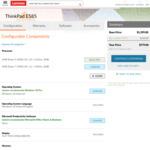 "Lenovo ThinkPad E585 (15.6"" FHD IPS/Ryzen 5 2500U/8GB DDR4/256GB NVMe) $779 Delivered @ Lenovo AU"