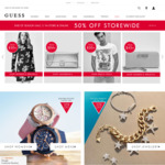 50% off Everything + Delivery (Free with Order over $75) @ GUESS