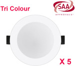 5x RG Dimmable TriCoulour Downlights $49.5 Delivered @ Star Sparky