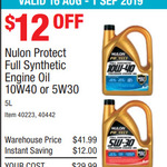 Nulon Full Synthetic Oil 5L 5W30/10W40 $29.99 @ Costco (Membership Required)