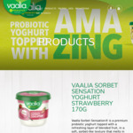[NSW] Free Vaalia Sorbet Sensation Yoghurt @ Macquarie Centre outside Woolworths