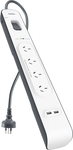 Belkin 4 Outlet 2 USB Surge Protector Powerboard $23.90 @ Bunnings