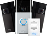 Ring Home Security Kit Including Doorbell, 2 Outdoor Cams and Chime $199.99 Delivered @ Ring eBay