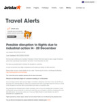 Jetstar Travel between 14-20 December - Free Change to Sooner Flight or Refund