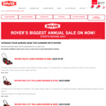 Up to $220 off Lawn Mowers, $200 off Lawn Edgers, $200+ of Battery Power Equipment Bundles @ Rover