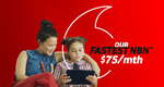 NBN 100/20Mbps No Contract $75/Month for First 6 Months ($95 Thereafter) @ Vodafone