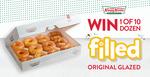Win 1 of 10 Dozen Filled Original Glazed Doughnuts from Krispy Kreme South Australia