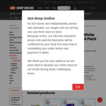 Sorbent Silky White Toilet Tissue 24 Pack $9 @ IGA