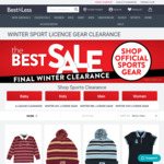 Up to 50% off Official Winter Gear (AFL, NRL, A-League, State of Origin), Beanie $8, Fleece Jacket $35, Hoodie $25 @ Best&Less