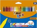 BIC Kids Plastidecor Colouring Crayons-Assorted Colours, Pack of 24 $2.02/ $1.82 (S&S) + Delivery ($0 Prime / $39 Spend) @Amazon