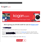 Kogan $10 off $100 Spend