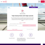 Virgin Australia: Triple Velocity Points (15 Per $1) on Domestic Flight Bookings @ Velocity Frequent Flyer