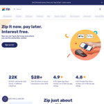 Get $10 Back on Your First Tap & Zip Contactless Transaction In-Store (No Minimum Spend) @ Zip Co