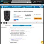 Samyang AF 85mm f/1.4 Lens Canon RF Mount (Grey Import) $799 + Delivery @ CCC Warehouse