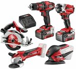 Ozito PXC 18v Cordless 5 Piece Kit inc. Charger & 2 x 4.0Ah Batteries - $249 @ Bunnings
