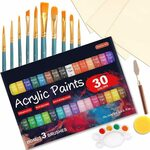 46 Pack Acrylic Paints with Canvas $23.09 (Orig. $32.99) + Delivery ($0 with Prime/ $39 Spend) @ Shuttle Art via Amazon
