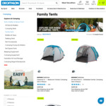 50% Discount on Family Tents & Shelters starting from $99 + Delivery ($0 C&C) @ Decathlon AU