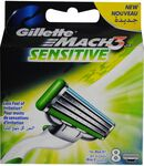 $10 off $30 Spend with Signup, Gillette Mach 3 Sensitive 8 Pack X 2 $23.98 + Delivery or Free C&C @ Shavershop