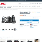 Anko Gaming Light up 2.1 Speakers $30 (Was $39) C&C /+ Delivery ($10 to Metro, $0 with $65 Spend) @ Kmart