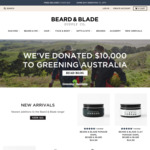 $10 off + Delivery ($0 with $20 Spend) @ Beard & Blade (New Users)