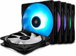 Deepcool RF120M 5IN1 5x120mm RGB PWM Fans with 2 Fan Hubs $46.39 Delivered @ Deepcool AU via Amazon AU