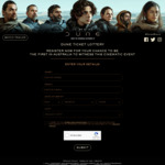 Win 1 of 75 Double Passes to Dune Worth $40 from Universal Pictures