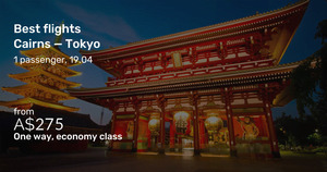 Jetstar to Japan O/W: SYD to Tokyo $367, Cairns to TYO $275, GC to TYO $302, MEL to TYO $395 [Feb - Apr '22] @ Beat That Flight