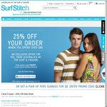 SurfStitch 25% off for Orders over $80