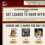 "Get Games ""Get Loaded"" 2 Games for $15 Offer"
