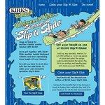 Kirks soft drink slip n slide promotional giveaways