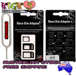 Nano SIM Card to Micro Regular Full Standard SIM Card Tray Adapter Holder iPhone $1.00 Free Ship