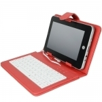 """7"""" Tablet PC Leather Case + USB Keyboard + Stylus + Holder US $8.50 with Free Delivery"""