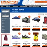 Anaconda 20% to 50% off Winter Savings Online and Instore