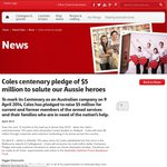 Coles 10% off to Members of The Armed Services & Their Familes Sat April 12-Sunday April 13