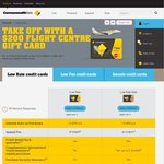 CommBank Credit Card with $200 Flight Centre Gift Card