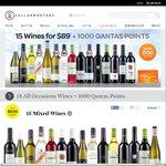15 Bottles of Wine $80.10 Delivered +1000 Qantas Pts for Everyday Reward Members @Cellarmasters