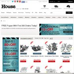 House Online - Free Frypan for First 300 Orders + Extra 15% off Sitewide Including Sale Items