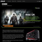 Free: Tom Clancy's The Division with Selected Asus Graphic Cards @ Asus
