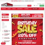 20% off Everything + Free Shaker - Birthday Sale @ Nutrition Warehouse (In-Store and Online)