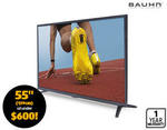 Bauhn 55inch 4k UHD LED TV for $599 @ ALDI