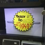 """MacBook Pro 13.3"""" SSD 256GB $1949 (RRP $2294) @ JB Hi-Fi Hornsby NSW"""
